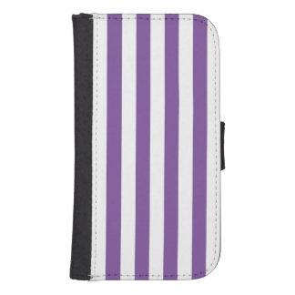 Coque Avec Portefeuille Pour Galaxy S4 Rayures pourpres verticales
