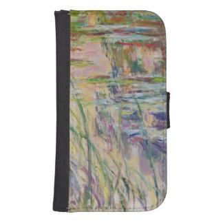 Coque Avec Portefeuille Pour Galaxy S4 Réflexions de Claude Monet | sur l'eau, 1917