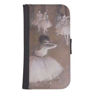 Coque Avec Portefeuille Pour Galaxy S4 Répétition de ballet d'Edgar Degas | sur l'étape,