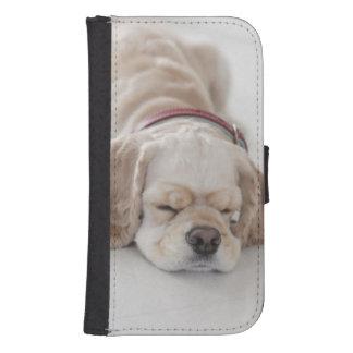 Coque Avec Portefeuille Pour Galaxy S4 Sommeil de chien de cocker