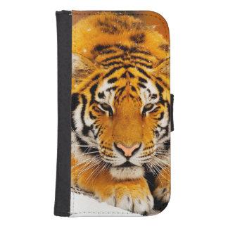 Coque Avec Portefeuille Pour Galaxy S4 Tigre sibérien