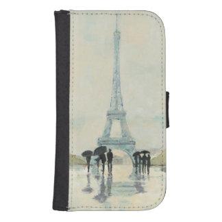 Coque Avec Portefeuille Pour Galaxy S4 Tour Eiffel | Paris sous la pluie