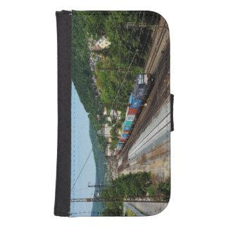 Coque Avec Portefeuille Pour Galaxy S4 Train de marchandises dans les Gemünden au Main