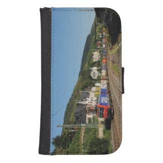 Coque Avec Portefeuille Pour Galaxy S4 Train de marchandises dans les Lorch au Rhin