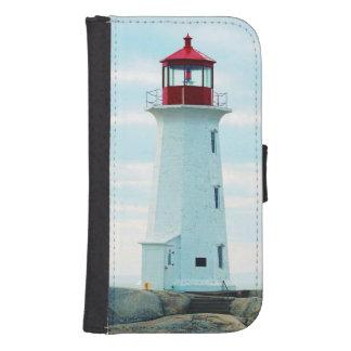 Coque Avec Portefeuille Pour Galaxy S4 Vieux phare, océan bleu, maritime, nautique