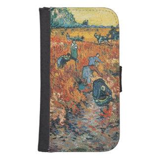 Coque Avec Portefeuille Pour Galaxy S4 Vignobles de rouge de Vincent van Gogh | chez