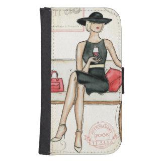 Coque Avec Portefeuille Pour Galaxy S4 Vin potable de Fashionista