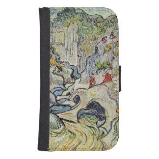 Coque Avec Portefeuille Pour Galaxy S4 Vincent van Gogh | le ravin du Peyroulets