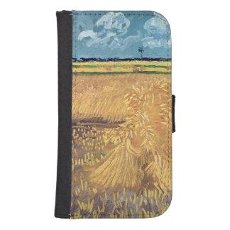 Coque Avec Portefeuille Pour Galaxy S4 Wheatfield de Vincent van Gogh | avec des gerbes,
