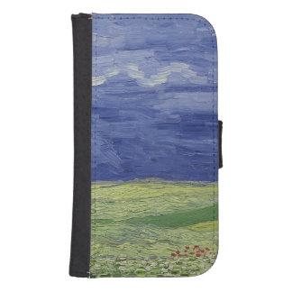 Coque Avec Portefeuille Pour Galaxy S4 Wheatfields de Vincent van Gogh   sous le nuage