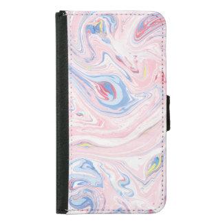 Coque Avec Portefeuille Pour Galaxy S5 Art moderne élégant en pastel de marbre de luxe de