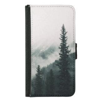 Coque Avec Portefeuille Pour Galaxy S5 Au-dessus des montagnes et de la cuvette les bois