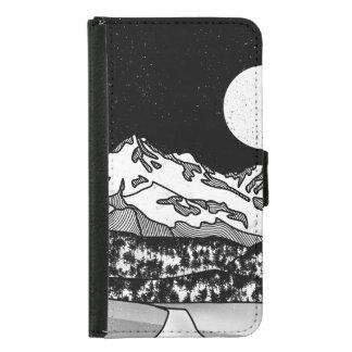Coque Avec Portefeuille Pour Galaxy S5 Bâti Shasta noir et blanc
