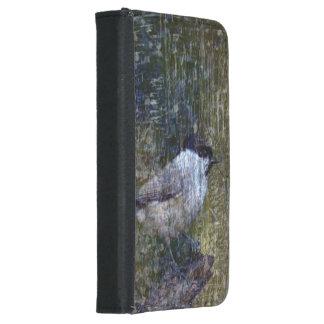 Coque Avec Portefeuille Pour Galaxy S5 Chickadee sauvage abstrait