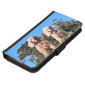 Coque Avec Portefeuille Pour Galaxy S5 Épuisement - caniches - Romeo Remy