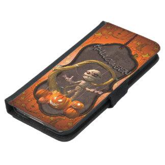 Coque Avec Portefeuille Pour Galaxy S5 Halloween, maman drôle avec le citrouille