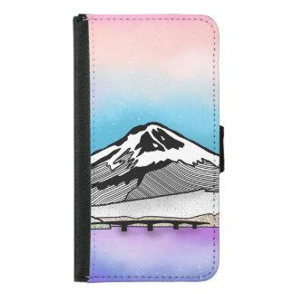 Coque Avec Portefeuille Pour Galaxy S5 Illustration de paysage de Mt Fuji Japon