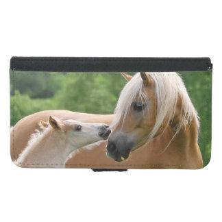 Coque Avec Portefeuille Pour Galaxy S5 Jument de Haflinger et photo animale de caresse de