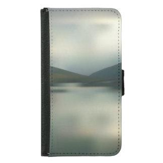 Coque Avec Portefeuille Pour Galaxy S5 Lac dans les montagnes