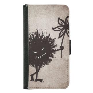 Coque Avec Portefeuille Pour Galaxy S5 L'insecte mauvais vintage donne la fleur
