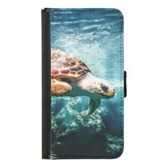 Coque Avec Portefeuille Pour Galaxy S5 Mer merveilleuse de turquoise de la vie d'océan de
