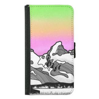 Coque Avec Portefeuille Pour Galaxy S5 Montagne grande Wyoming de Teton