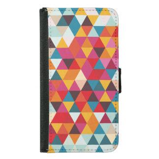 Coque Avec Portefeuille Pour Galaxy S5 Motif géométrique de triangle de hippie - couleur
