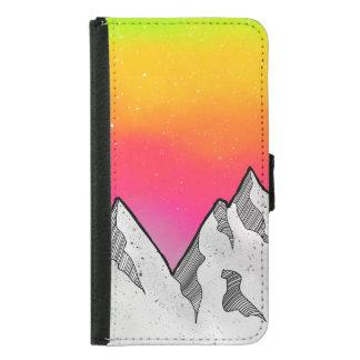 Coque Avec Portefeuille Pour Galaxy S5 Paysage de scène de montagne