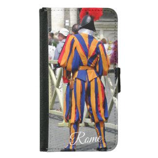 Coque Avec Portefeuille Pour Galaxy S5 Rome le collage de ville éternelle