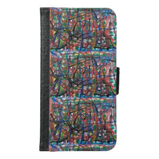 Coque Avec Portefeuille Pour Galaxy S6 Abstraction