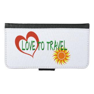 Coque Avec Portefeuille Pour Galaxy S6 Amour à voyager
