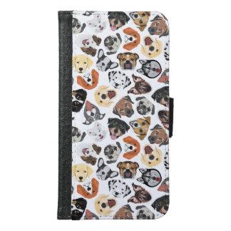Coque Avec Portefeuille Pour Galaxy S6 Chiens domestiques doux de motif d'illustration