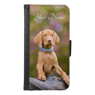 Coque Avec Portefeuille Pour Galaxy S6 Chiot puppyeyed mignon de chien de Vizsla de