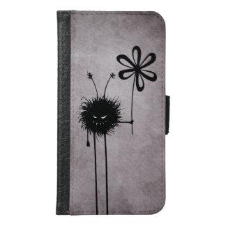 Coque Avec Portefeuille Pour Galaxy S6 Cru mauvais d'insecte de fleur