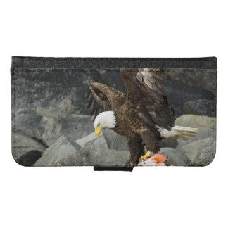 Coque Avec Portefeuille Pour Galaxy S6 Eagle chauve final