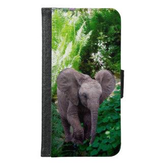 Coque Avec Portefeuille Pour Galaxy S6 Éléphant et jungle