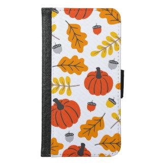Coque Avec Portefeuille Pour Galaxy S6 Feuille et citrouilles d'automne