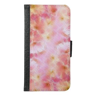 Coque Avec Portefeuille Pour Galaxy S6 Fleurs d'abrégé sur rose en pastel
