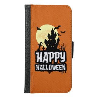 Coque Avec Portefeuille Pour Galaxy S6 Halloween heureux
