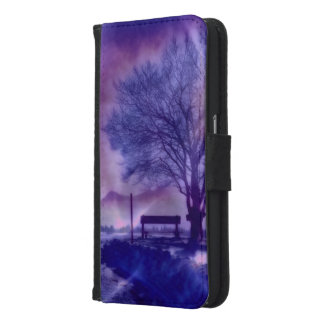 Coque Avec Portefeuille Pour Galaxy S6 Impression impressionnante B d'hiver