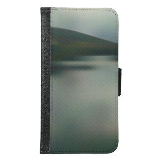 Coque Avec Portefeuille Pour Galaxy S6 Lac dans les montagnes