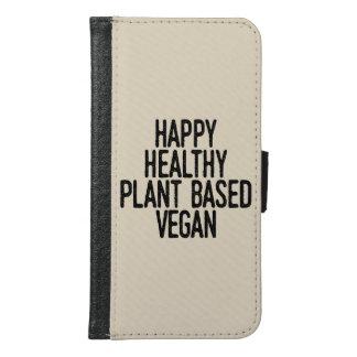Coque Avec Portefeuille Pour Galaxy S6 Le plante sain heureux a basé le végétalien (le