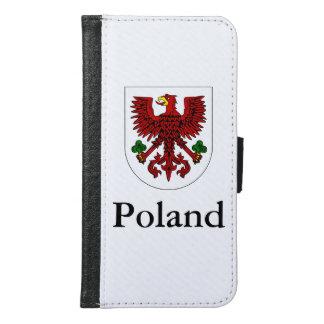 Coque Avec Portefeuille Pour Galaxy S6 Manteau des bras polonais