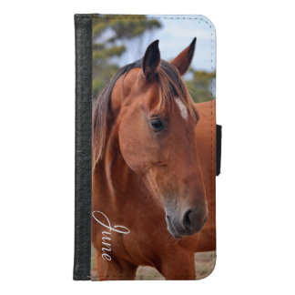 Coque Avec Portefeuille Pour Galaxy S6 Monogramme de cheval