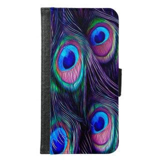 Coque Avec Portefeuille Pour Galaxy S6 Plume de paon