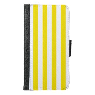 Coque Avec Portefeuille Pour Galaxy S6 Rayures jaunes verticales