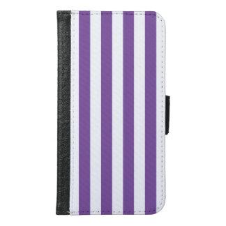 Coque Avec Portefeuille Pour Galaxy S6 Rayures pourpres verticales