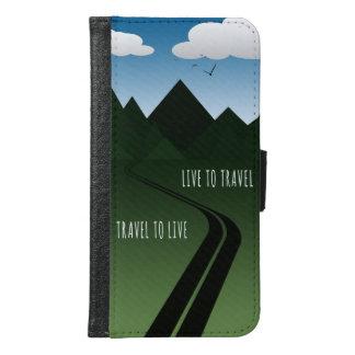Coque Avec Portefeuille Pour Galaxy S6 Route de montagne