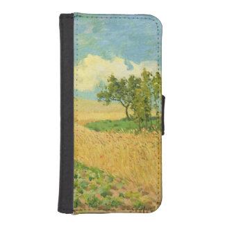Coque Avec Portefeuille Pour iPhone 5 Alfred Sisley | le champ de maïs