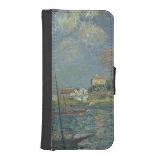 Coque Avec Portefeuille Pour iPhone 5 Alfred Sisley | le pont
